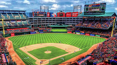 Painting - Globe Life Park Texas Rangers by Christopher Arndt