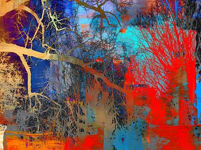 Surrealism Royalty-Free and Rights-Managed Images - Gloomy Canopy Surreal Abstract by Michael McBrayer