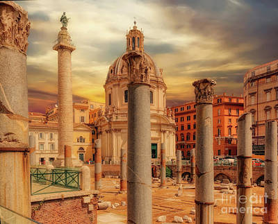 Photograph - Glories Past And Present,  Rome by Leigh Kemp