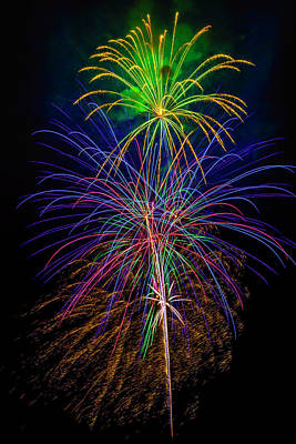 Photograph - Glorious Fireworks by Garry Gay