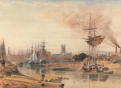 Drawing - Gloucester by Peter De Wint