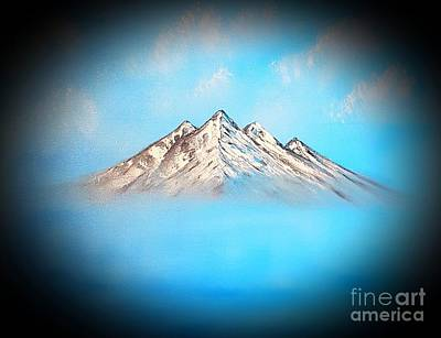 Impressionist Landscapes - Glowing blue beauty up above so high dark  by Angela Whitehouse