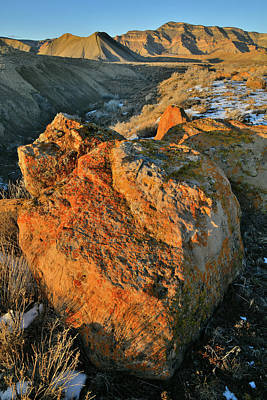 Photograph - Glowing Boulders Near Book Cliffs by Ray Mathis