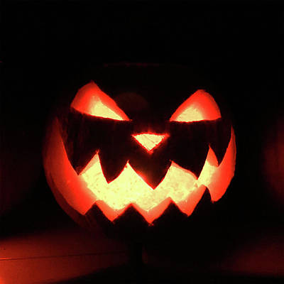 Photograph - Glowing Evil Pumpkin  by Doc Braham