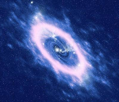 Digital Art - Glowing Gases From Dying Star by Mehau Kulyk/spl