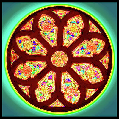 Digital Art - Glowing Rosette by Rick Wicker