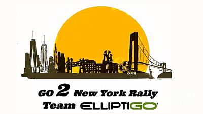 Painting - Go 2 Ny Rally 2019 by Francois Lamothe