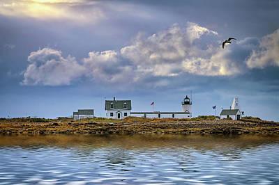 Photograph - Goat Island Lighthouse by Rick Berk
