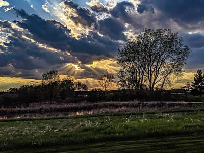 Photograph - God Rays by Randy Scherkenbach