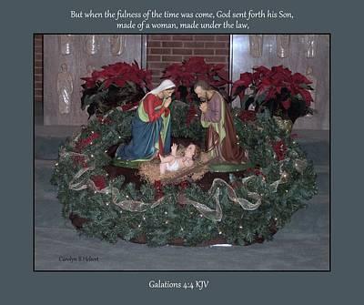 Wall Art - Photograph - God Sent Forth His Son by Carolyn Hebert