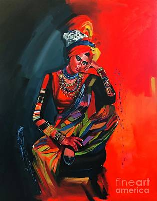 Painting - Goddess Of Colors by Nizar MacNojia