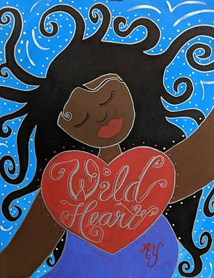 Painting - Goddess Of Wild Hearts by Angela Yarber