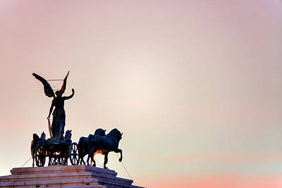 Photograph - Goddess Victoria At Sunset by Fabrizio Troiani