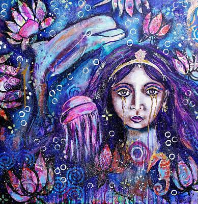 Painting - Goddess Ymanya by Jennifer Charton