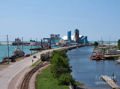 Photograph - Goderich Harbour And Maitland Valley Marina by Louise Heusinkveld