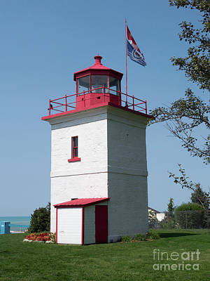 Photograph - Goderich Lighthouse by Louise Heusinkveld