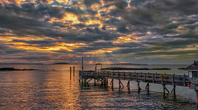 Photograph - Godrays Over The Pier by Guy Whiteley