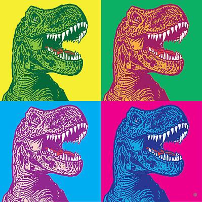 Digital Art - Godzilla Pop by Gary Grayson