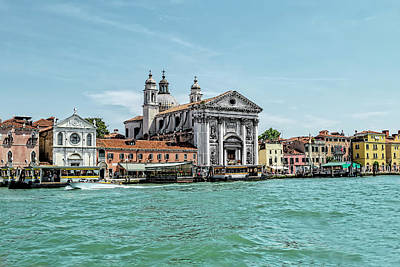 Photograph - Going Down The Grand Canal Of Venice by Kay Brewer