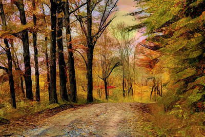 Photograph - Going Home Abstract Painting by Debra and Dave Vanderlaan
