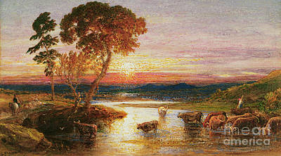 Painting - Going To The Fold, Sunset, 1879 by Samuel Palmer