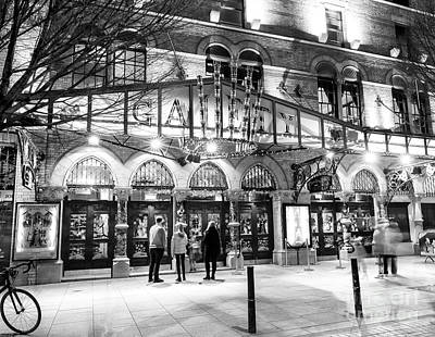 Photograph - Going To The Gaiety Theatre At Night Dublin by John Rizzuto