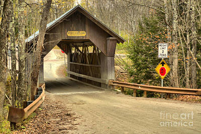 Photograph - Gold Brook Covered Bridge by Adam Jewell