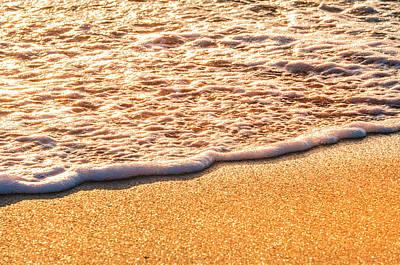 Gold Delray Beach Atlantic Ocean Waves 4206 Florida  Original
