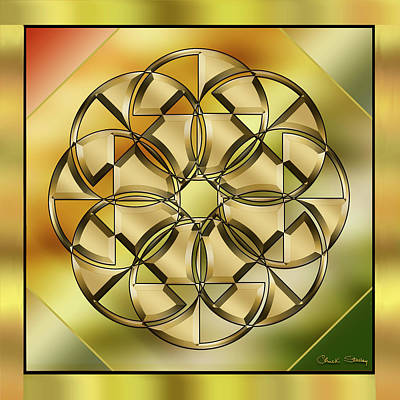 Digital Art - Gold Design 24 by Chuck Staley