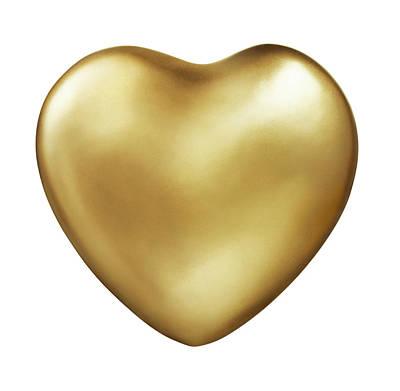 Photograph - Gold Heart by Lauren Nicole