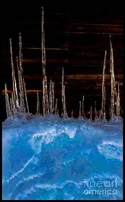 Photograph - Gold Ice by Jennifer Lake