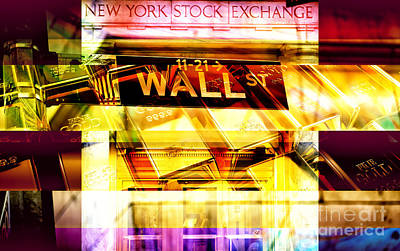 Photograph - Gold On Wall Street by John Rizzuto