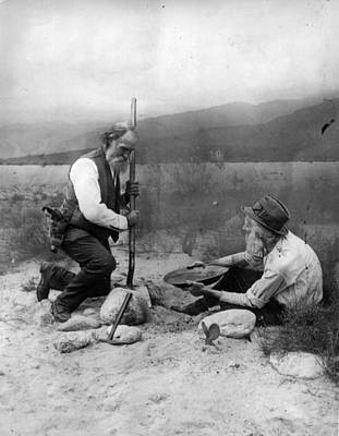 Gold Prospectors Art Print by General Photographic Agency
