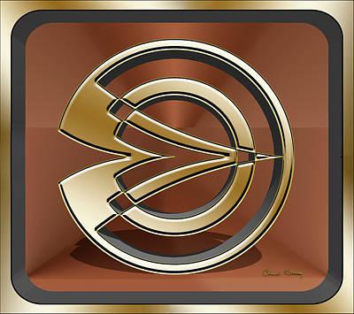 Digital Art - Gold Sculpture 2 3d by Chuck Staley