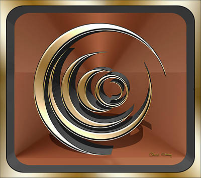 Digital Art - Gold Sculpture 5 3d by Chuck Staley