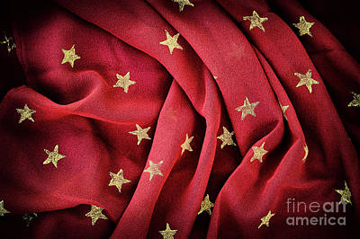 Photograph - Gold Stars Red by Tim Gainey