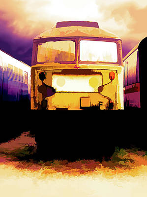 Digital Art - Gold Train by Scott Lyons