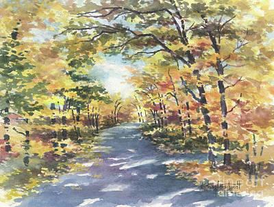Wall Art - Painting - Golden Autumn by Kerry Kupferschmidt