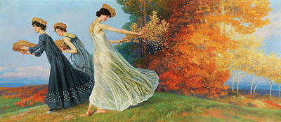 Lenz Wall Art - Painting - Golden Autumn by Maximilian Lenz