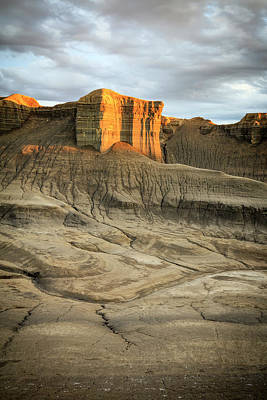 Photograph - Golden Badlands by Johnny Adolphson