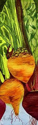 Painting Royalty Free Images - Golden Beets Royalty-Free Image by Nicole Curreri