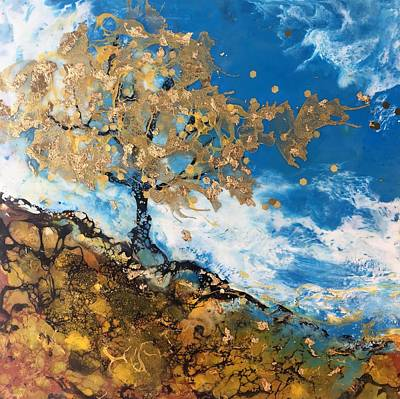 Mixed Media - Golden Breeze by Anne Stine