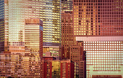 Abstract Skyline Royalty-Free and Rights-Managed Images - Golden city by Delphimages Photo Creations