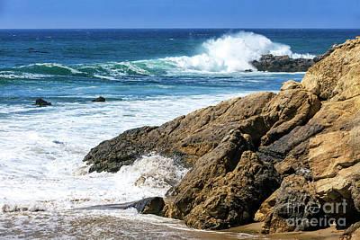 Photograph - Golden Coast Waves In Malibu by John Rizzuto
