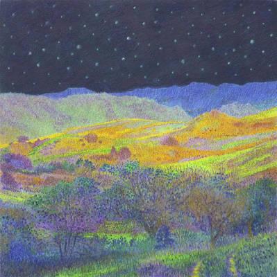 Wall Art - Painting - Golden Dakota Midnight by Cris Fulton