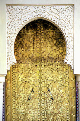 Photograph - Golden Door And An Arch Way by Hisham Ibrahim