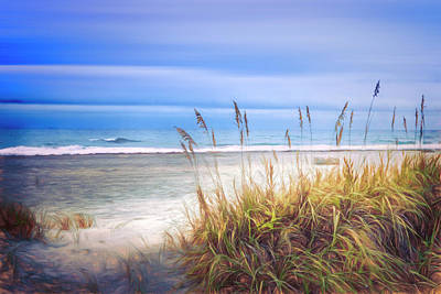 Photograph - Golden Dune Dreams Painting by Debra and Dave Vanderlaan