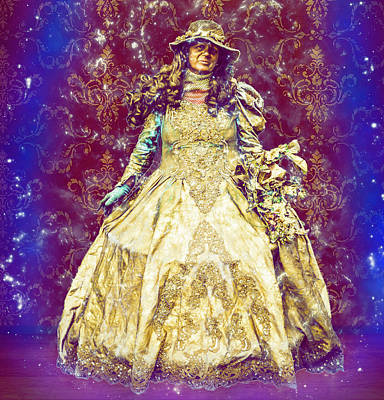 Digital Art - Golden Fairy Godmother by Max Huber