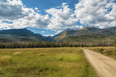 Photograph - Golden Fields In The Rockies by John M Bailey