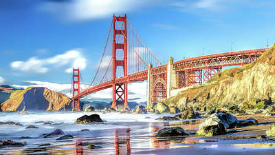 Painting - Golden Gate Bridge by Christopher Arndt